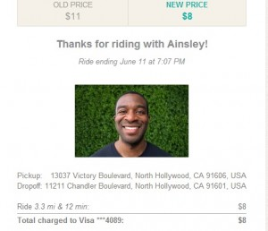 Lyft Driver Good Experience Los ANgeles