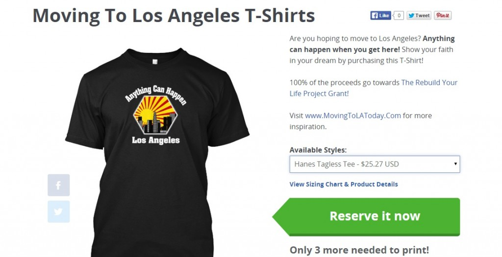 Moving To Los Angeles T Shirt