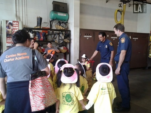 Kids on a Field Trip to the Los Angeles Fire Department