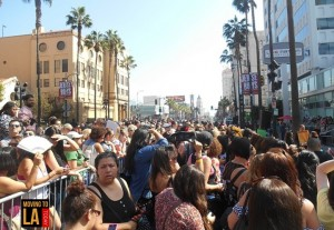 New Kids Walk of Fame Hollywood Crowd