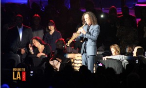 KENNY G. performing at the 2014 Soulful Xmas Concert at the Nokia Theatre.
